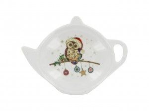 Tea Bag Skapka - Owl Baubles Bug Art
